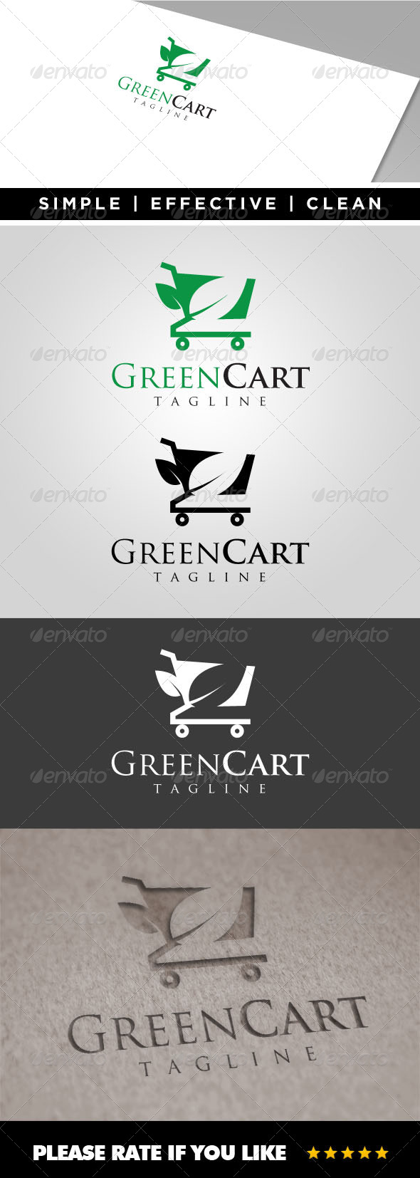 GraphicRiver Green Cart Logo Template 7853470