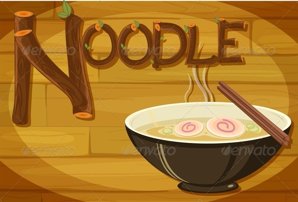 GraphicRiver Wooden Frame with Noodles 7853522