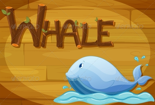 GraphicRiver Wooden Frame with Whale 7853527