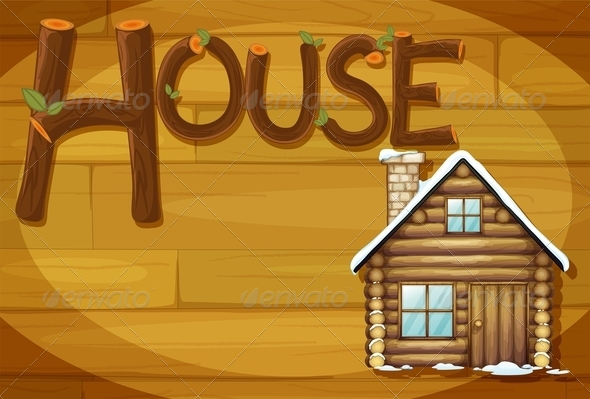 GraphicRiver Wooden Frame with House 7853548