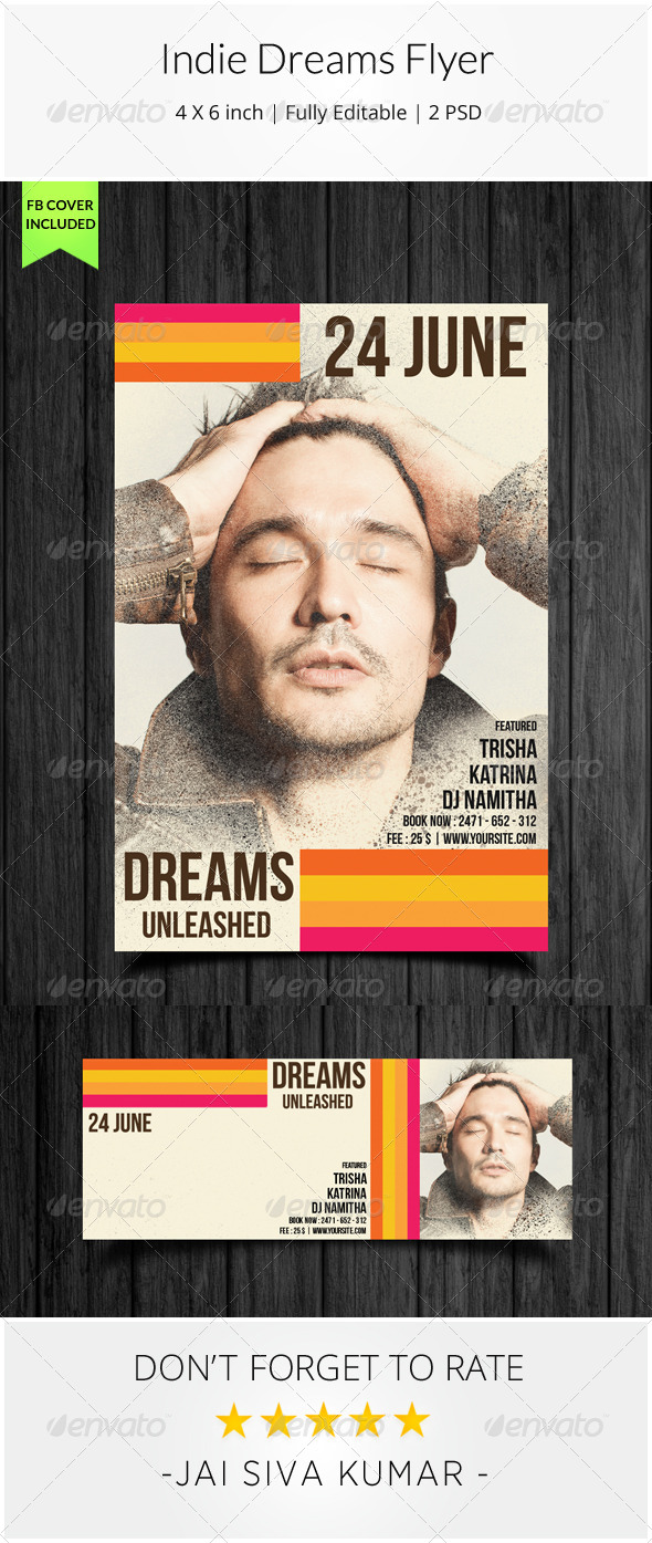 GraphicRiver Indie Dreams Flyer 7853612