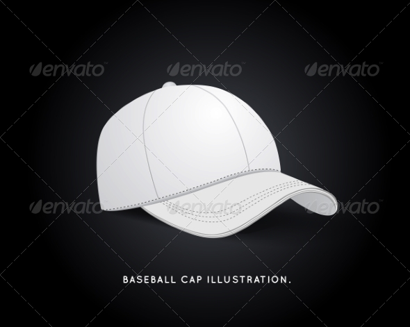 GraphicRiver White Baseball Hat 7853646