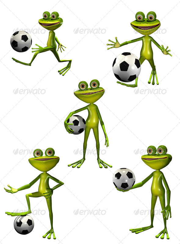 GraphicRiver Soccer Player Frog 7853713