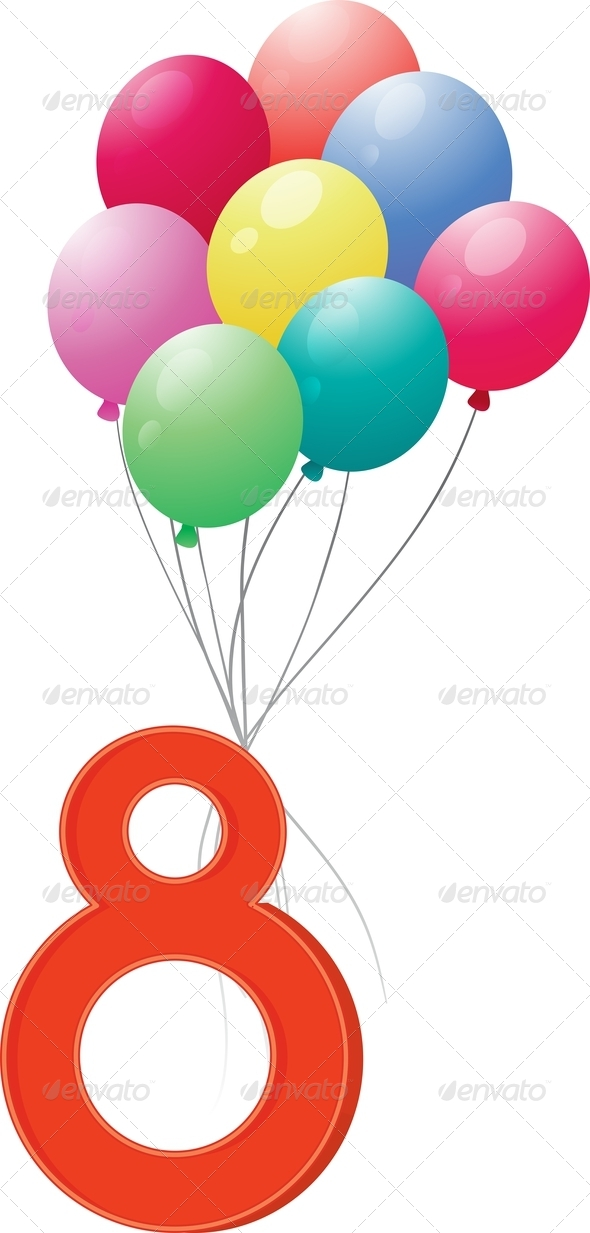 GraphicRiver Eight Colourful Balloons 7853717