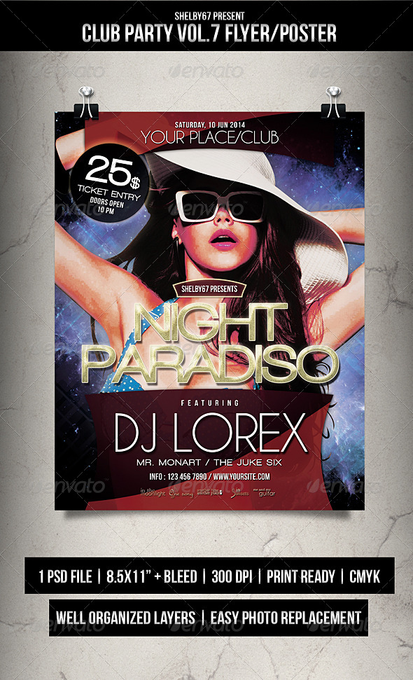 GraphicRiver Club Party Flyer Poster Vol.7 7853732