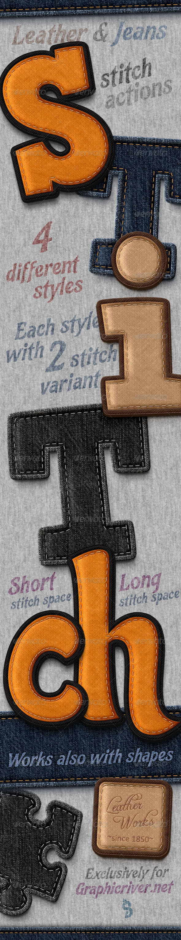 GraphicRiver Stitched Leather And Jeans Actions 7853777
