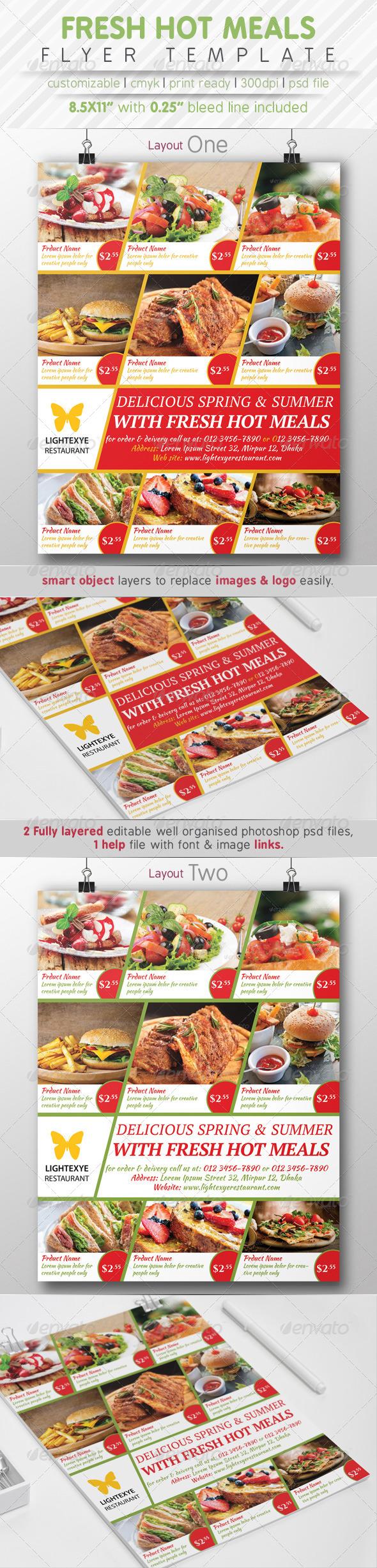 GraphicRiver Fresh Hot Meals Menu 7827680