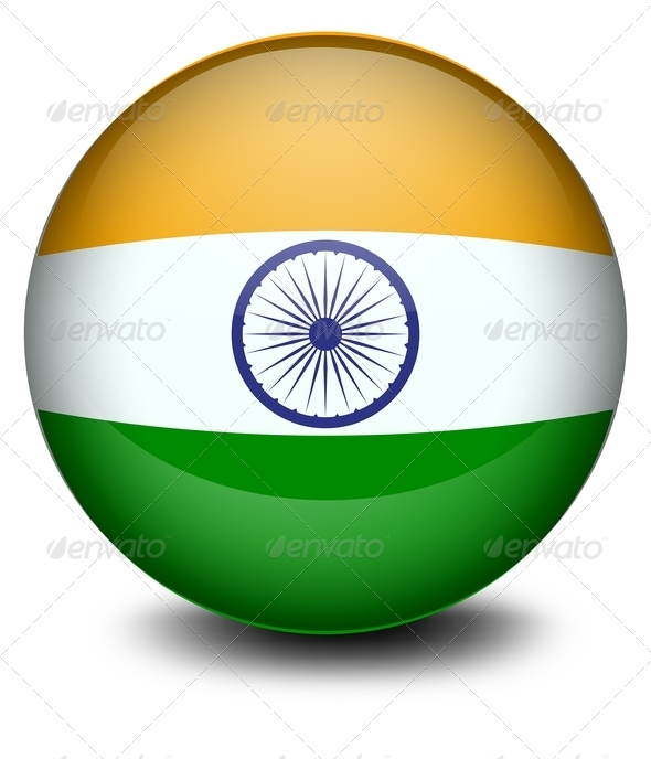 Ball with Indian Flag
