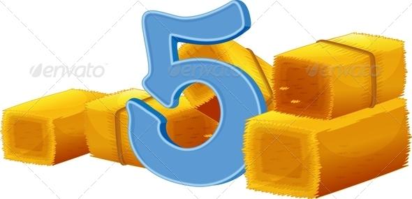 GraphicRiver Five Bundles of Hay 7853857