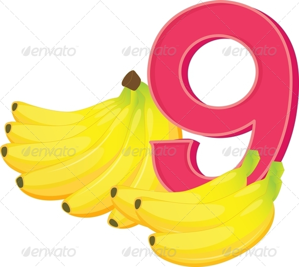 GraphicRiver Nine Ripe Bananas 7853934