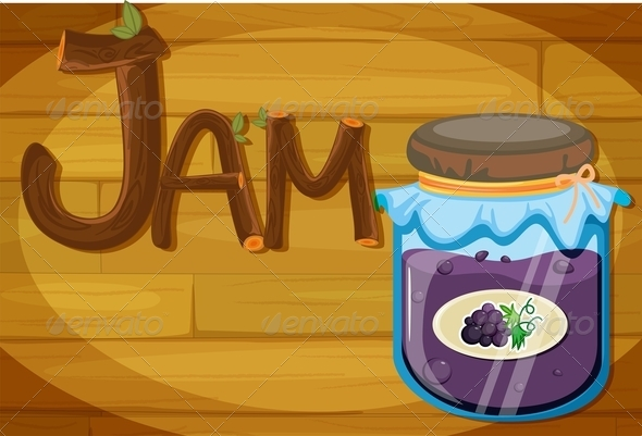 GraphicRiver Wooden Frame with Jam 7853938