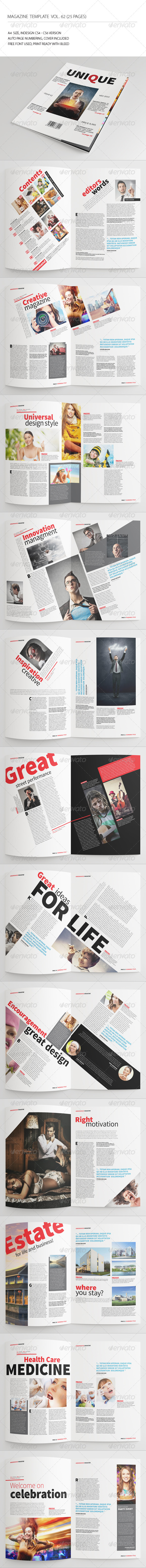 GraphicRiver 25 Pages Magazine Template Vol62 7853949