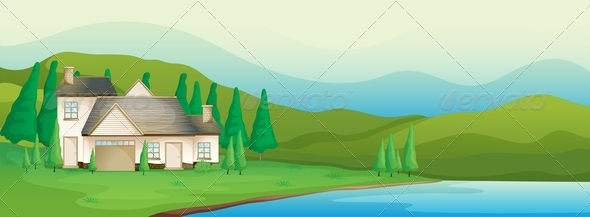 GraphicRiver House near the river 7854230