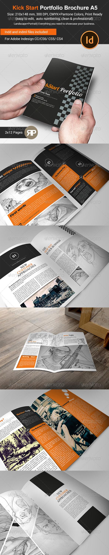 GraphicRiver New Way Portfolio Brochure 2 X A5 7854311