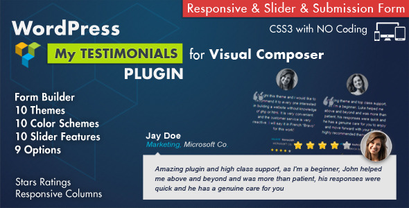 CodeCanyon Testimonials Showcase for Visual Composer Plugin 7854406