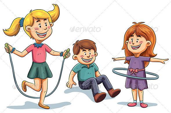 GraphicRiver Kids Playing 7854478