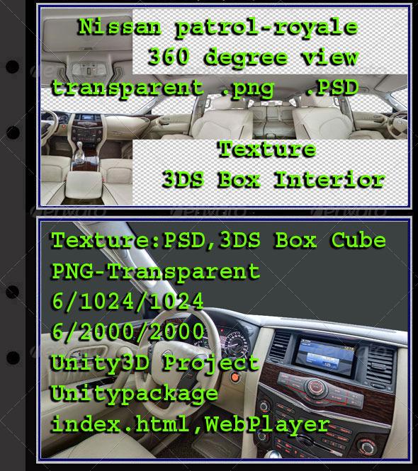 3DOcean Nissan Patrol interior 7854480