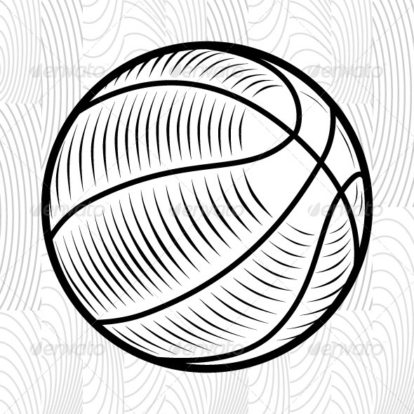 GraphicRiver Engraving Basketball Ball 7765977