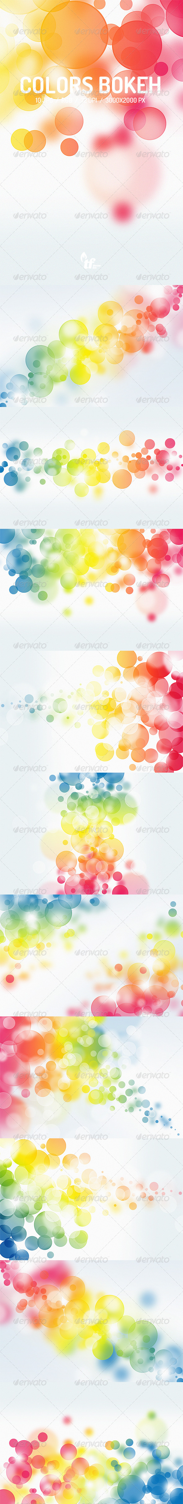 GraphicRiver Colors Bokeh Backgrounds 7854527