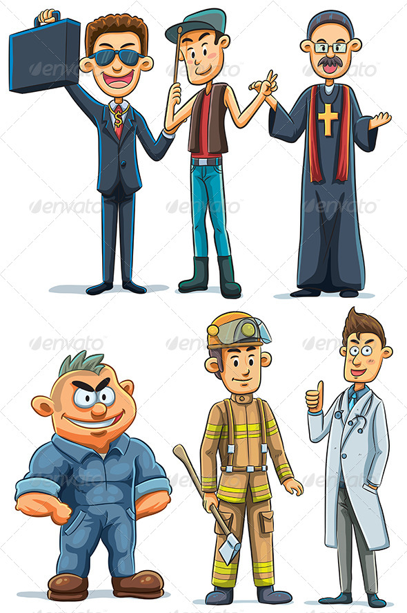 GraphicRiver Men s Various Professions 7854669