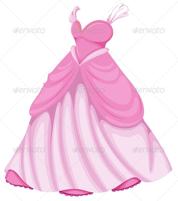 GraphicRiver Beautiful pink dress 7854704