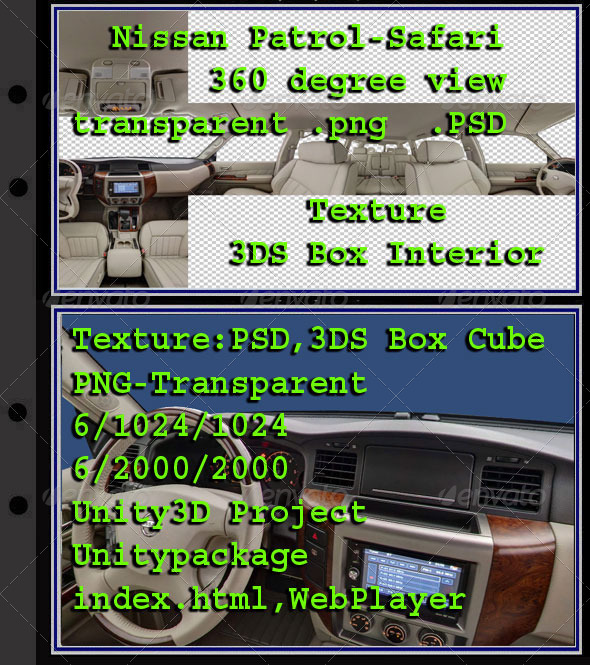 3DOcean Nissan Patrol Safari Interior 7854783