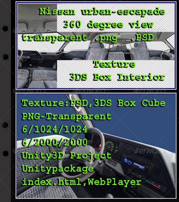 3DOcean Nissan Urban-Escapade Interior 7854879