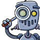 Robot Using Magnifier - GraphicRiver Item for Sale