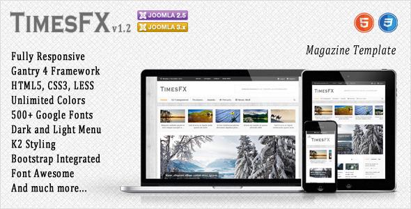 TimesFX - Responsive Joomla Template - Blog / Magazine Joomla