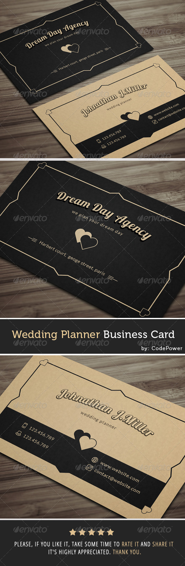 GraphicRiver Wedding Planner Business Card 7855159