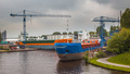 Inland Navigation Ships in a Harbor - PhotoDune Item for Sale