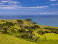 New Zealand landscape green hills with sea - PhotoDune Item for Sale