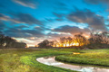Orange Sunset over River Valley - PhotoDune Item for Sale