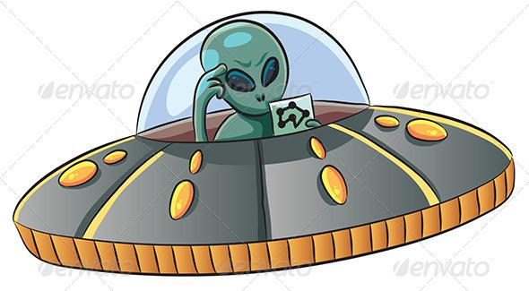 GraphicRiver UFO Confused 7855203