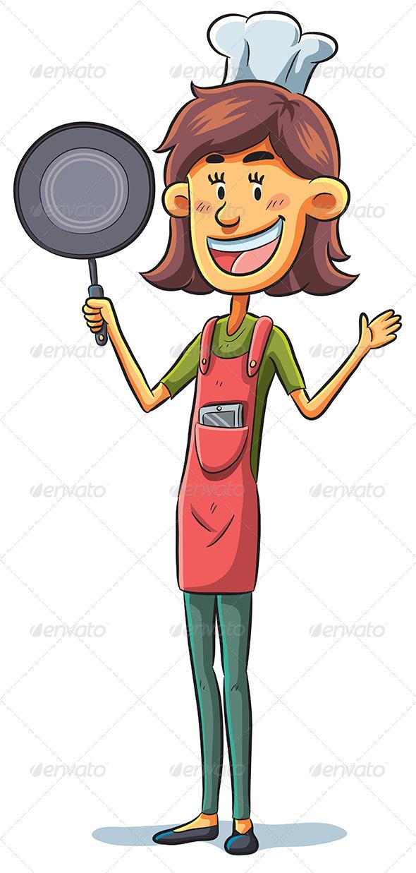 GraphicRiver Woman Chef 7855208