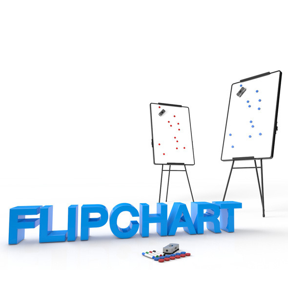 Flipchart - 3DOcean Item for Sale
