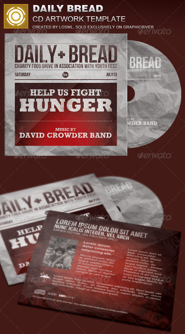 GraphicRiver Daily Bread CD Artwork Template 7855411