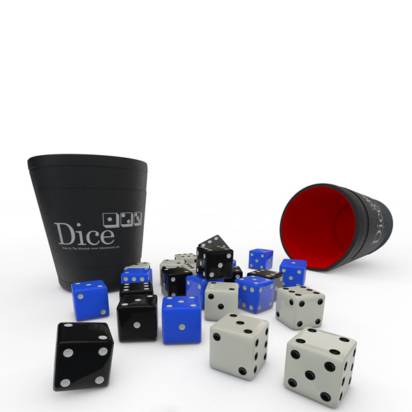 Dice and Cup - 3DOcean Item for Sale