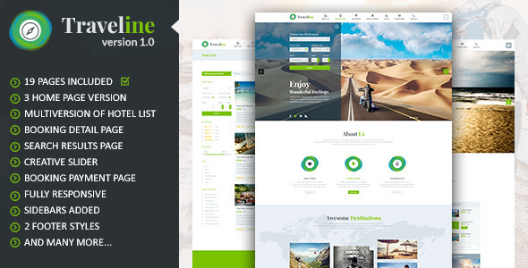 ThemeForest Traveline Online Tour Hotel Booking Template 7855437