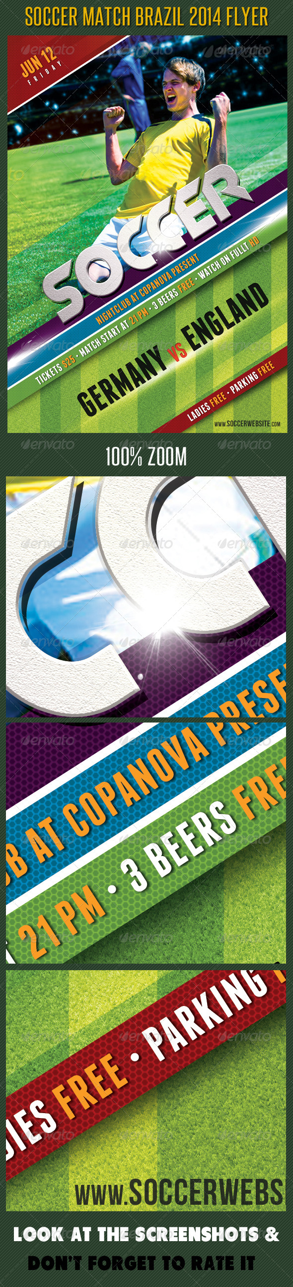 Soccer Tournament 2014 Flyer Template 04 - Sports Events