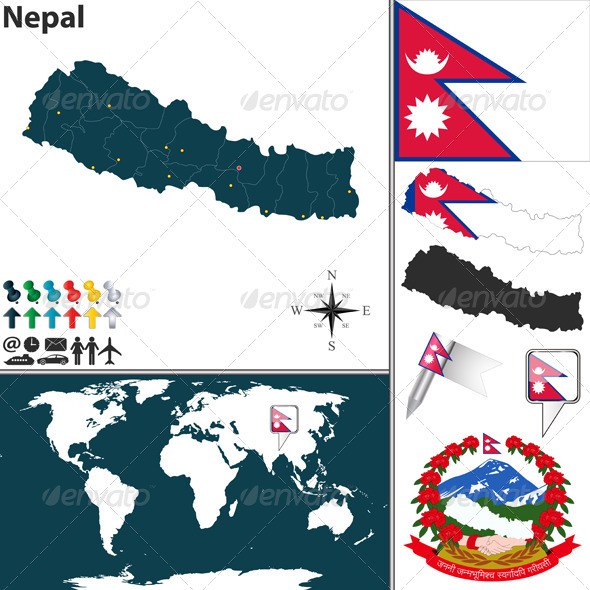 GraphicRiver Map of Nepal 7856800