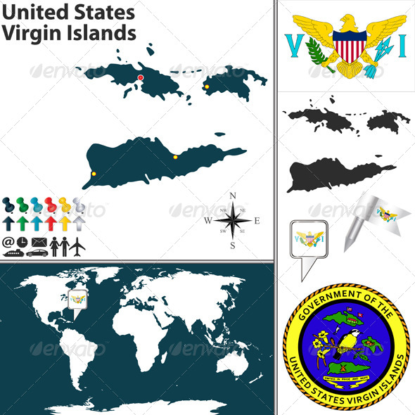 GraphicRiver Map of United States Virgin Islands 7856802