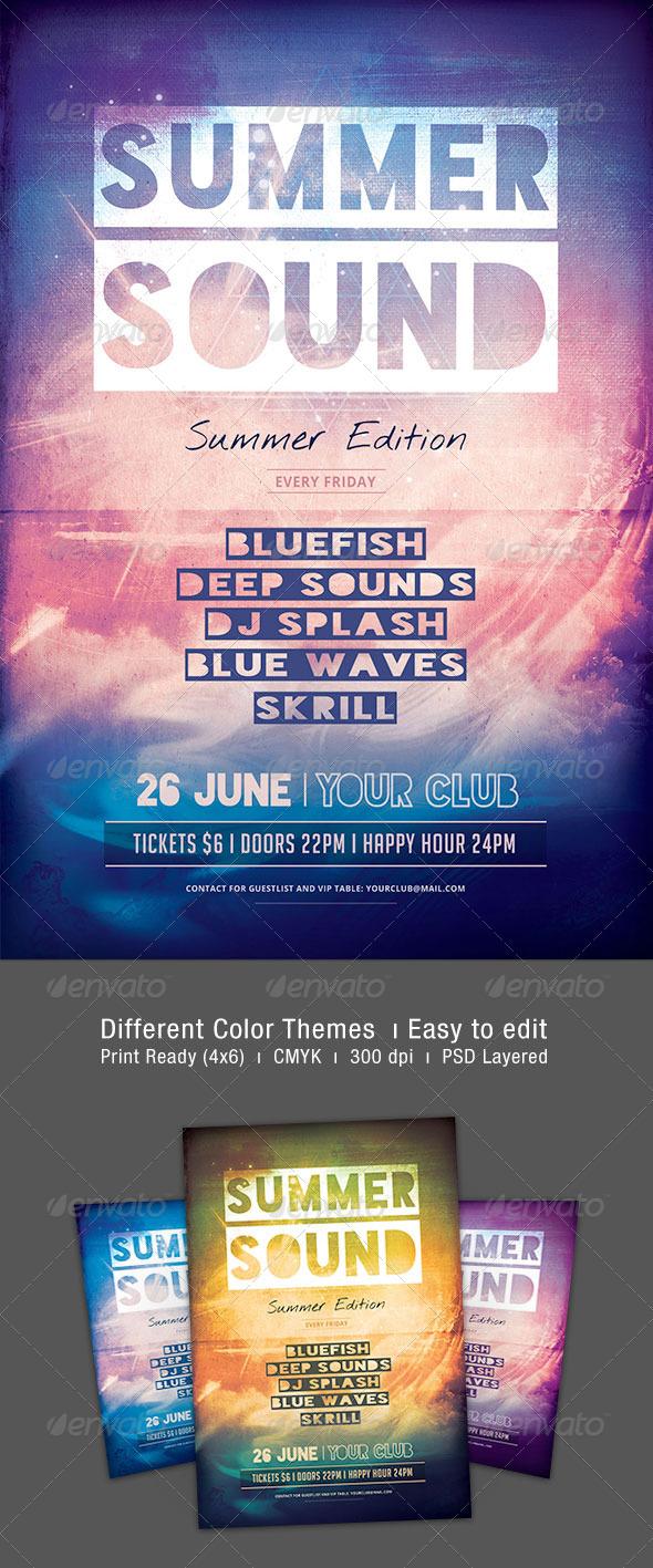 GraphicRiver Summer Sound Flyer 7856818