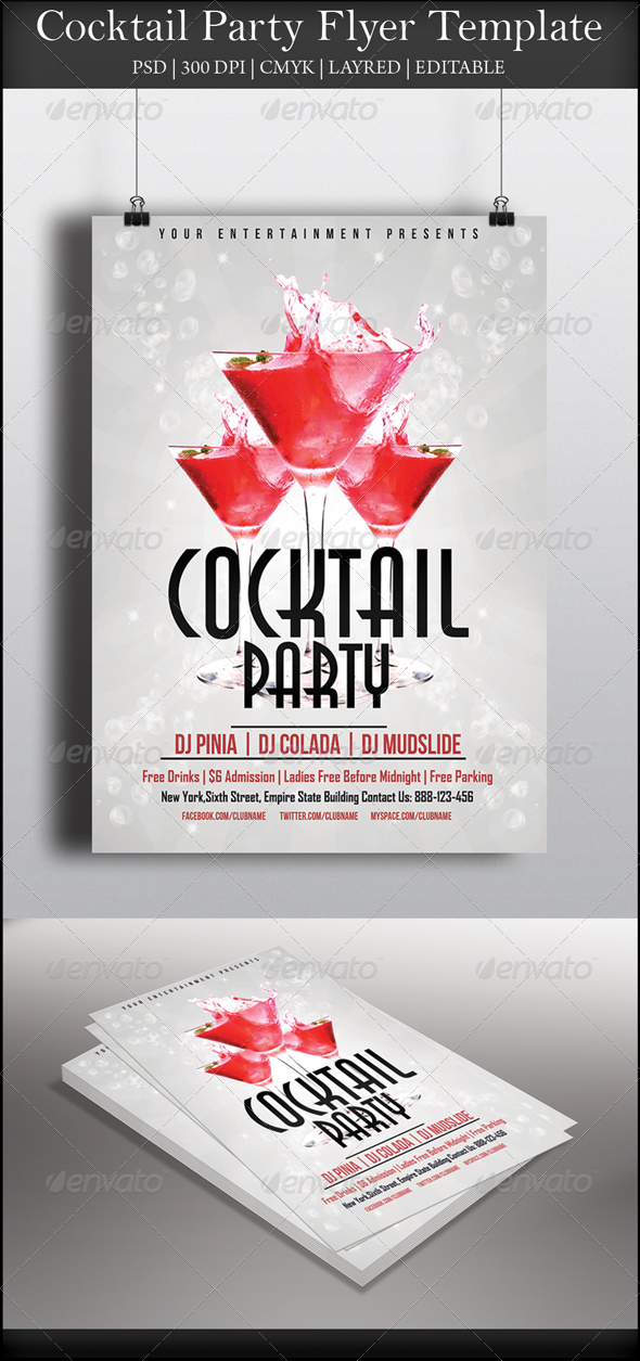 GraphicRiver Cocktail Party Flyer 7856926