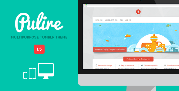 PULIRE - Responsive Multipurpose Tumblr Theme