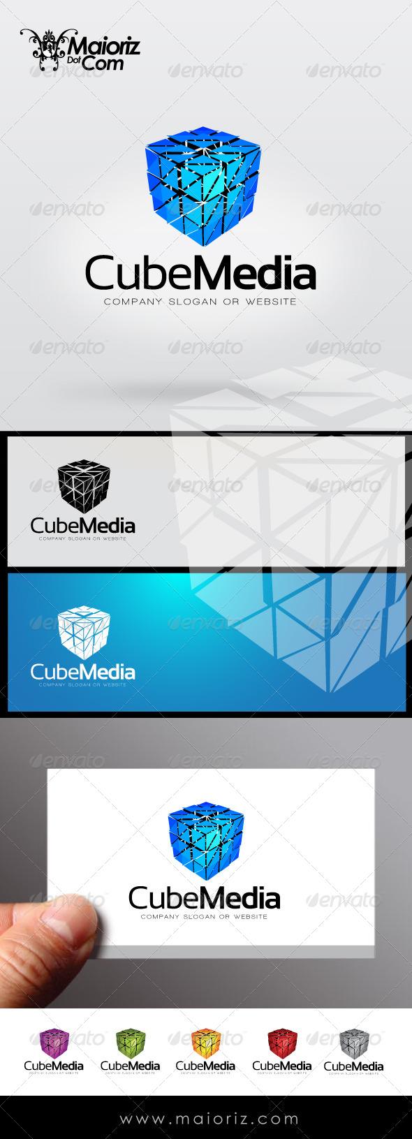 GraphicRiver Cube Media Logo Template 7857002