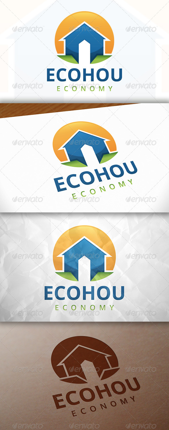 GraphicRiver Eco House Logo Template 7857085