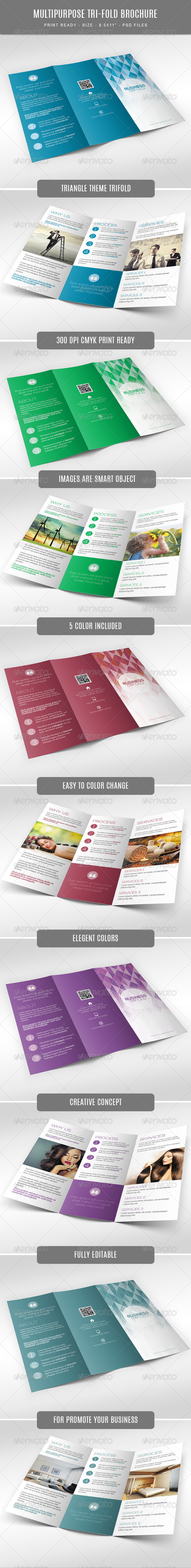 GraphicRiver Multipurpose Tri-Fold Brochure 7823422