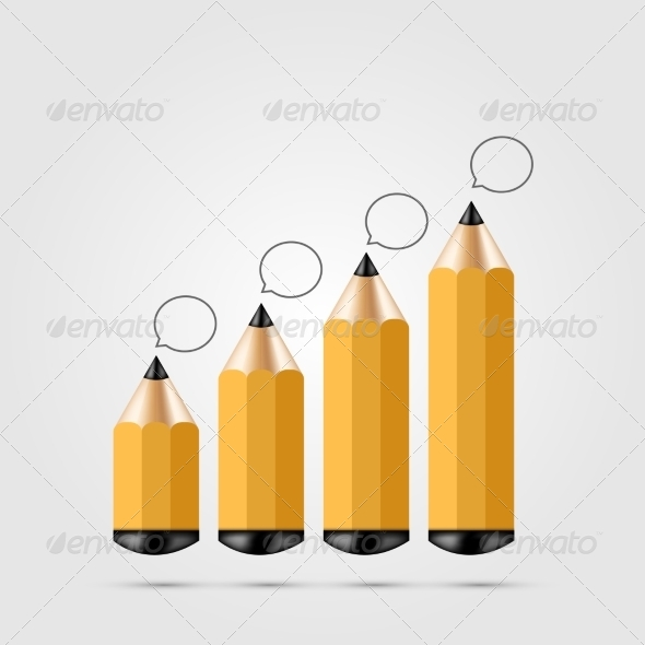 GraphicRiver Pencil Infographics 7857677