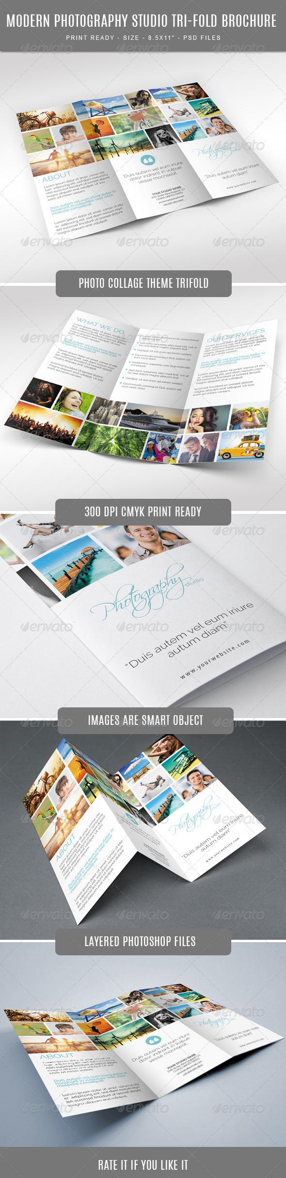 GraphicRiver Modern and Fashion Photography Studio Tri-Fold Bro 7857773